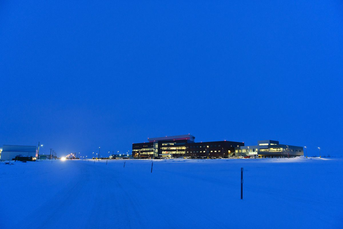 Norton Sound Regional Hospital, in Nome, on March 16, 2020. (Marc Lester / ADN)