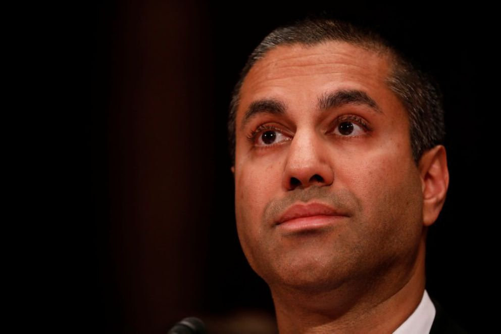 FILE – Ajit Pai, chairman of the Federal Communications Commission. REUTERS/Aaron P. Bernstein