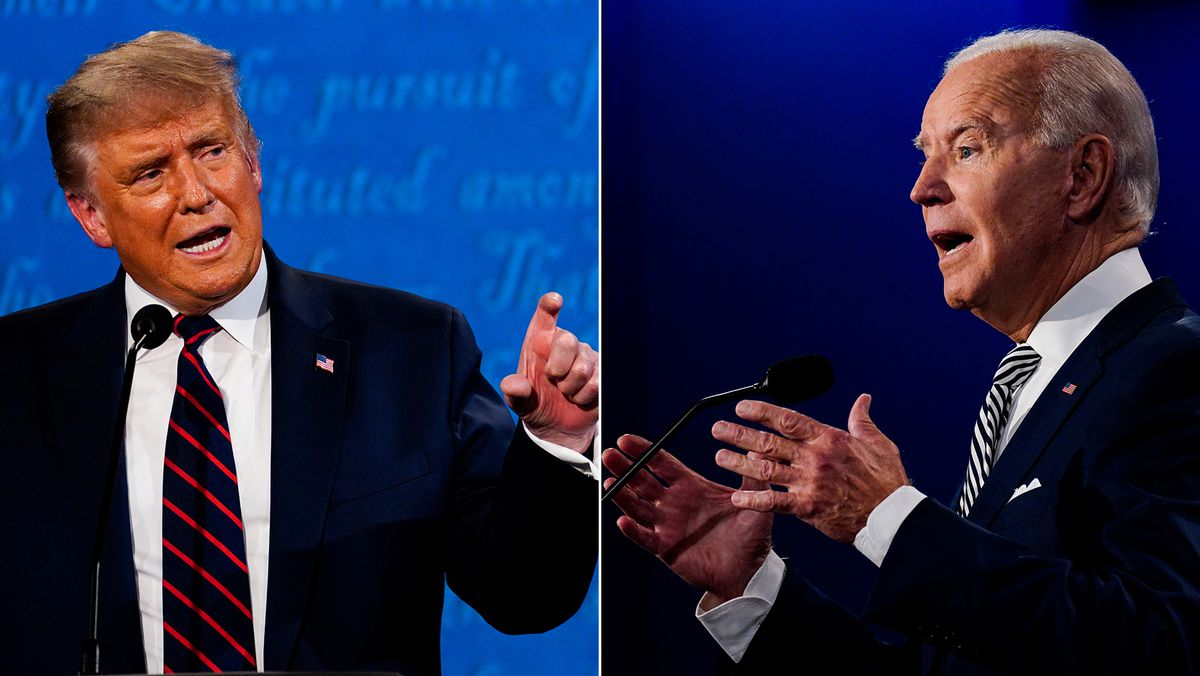 President Trump and Joe Biden are pictured at the first presidential debate on Sept. 29 in Cleveland. Washington Post photos by Melina Mara