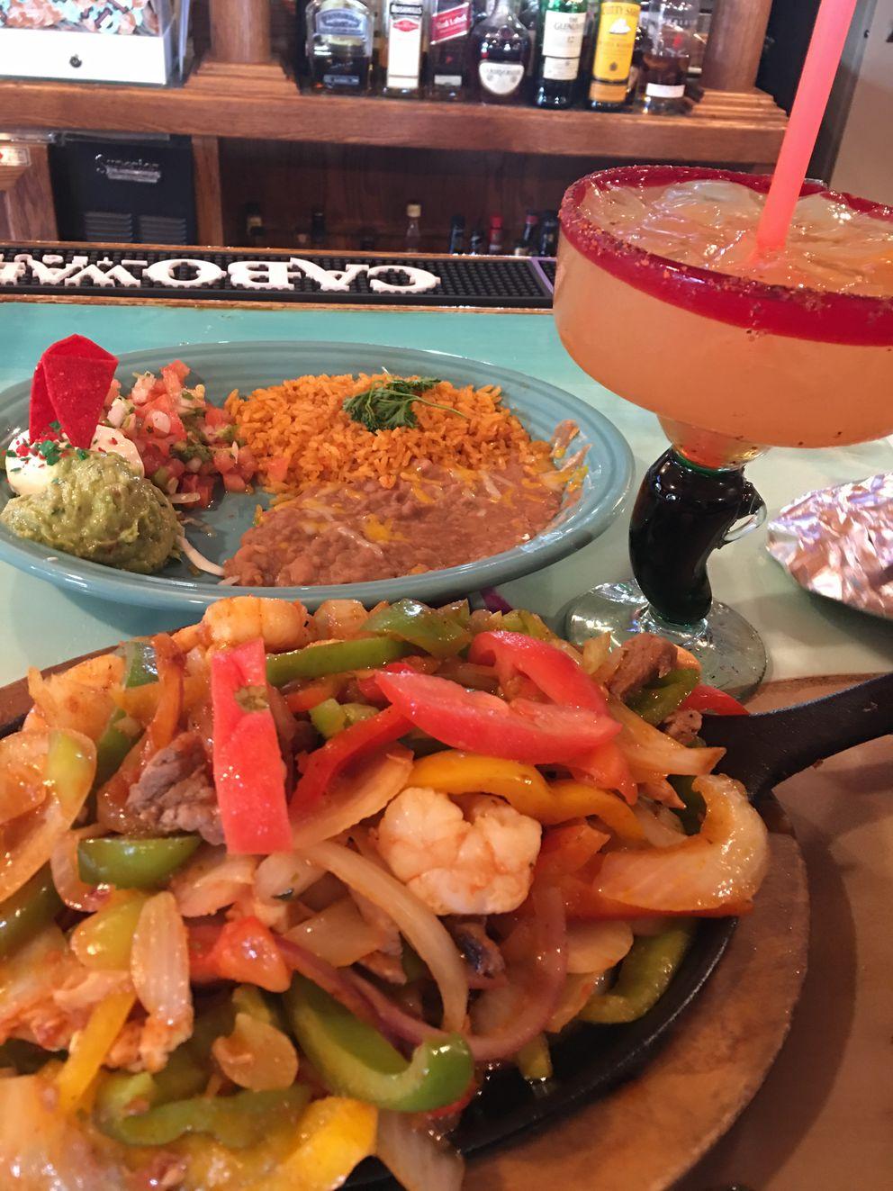 Mixta fajitas at Jalapenos Mexican Restaurant in South Anchorage (Photo by Mara Severin)