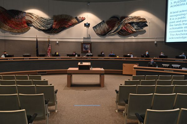 Anchorage Assembly meeting on Monday, July 27, 2020. (Bill Roth / ADN)