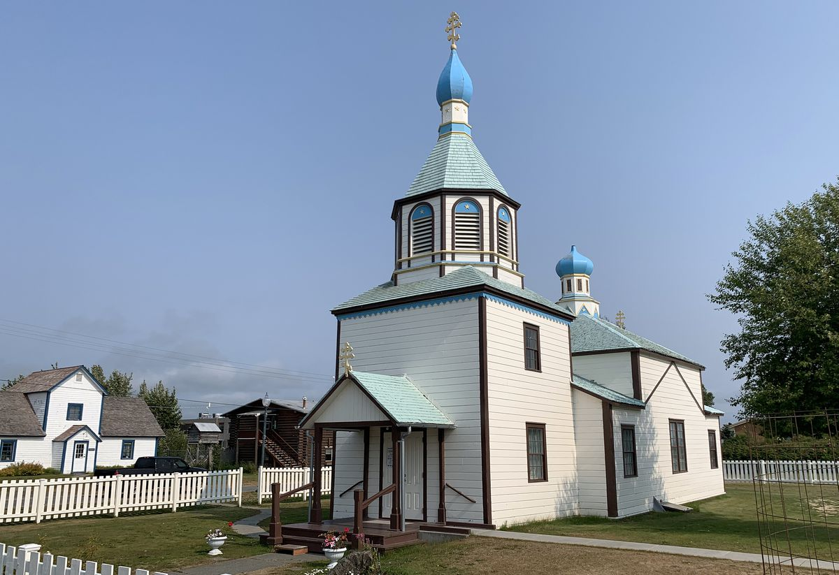 The Holy Assumption of the Virgin Mary Russian Orthodox Church in Old Town Kenai was built in 1894. (Matt Tunseth / ADN)