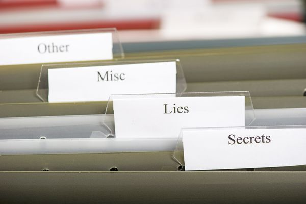 Lies and Secrets filed away (Getty)