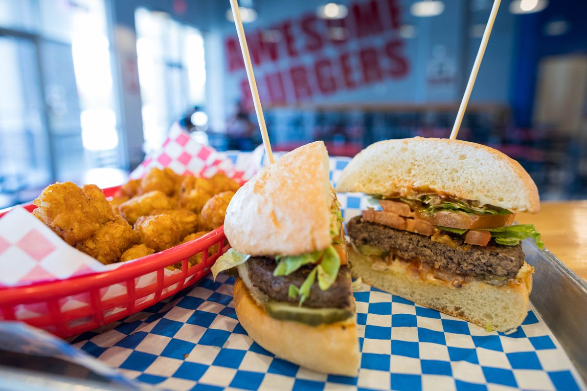 An Impossible Burger at Kriner's Burgers and Pies on Friday, June 21, 2019. (Loren Holmes / ADN)
