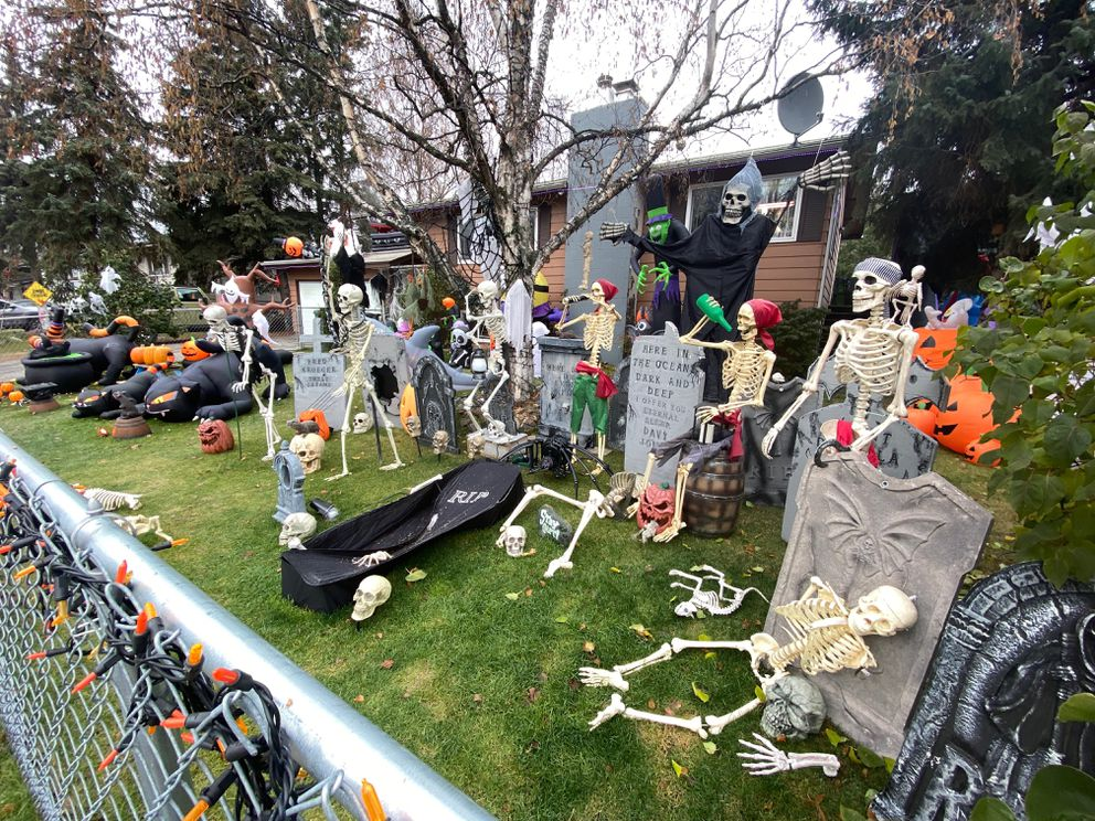 Halloween display off Arctic Boulevard on 72nd Avenue in Anchorage (Photo by Victoria Barber)