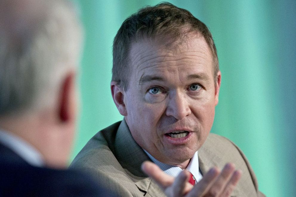 Mick Mulvaney, director of the Office of Management and Budget. MUST CREDIT: Andrew Harrer/Bloomberg News