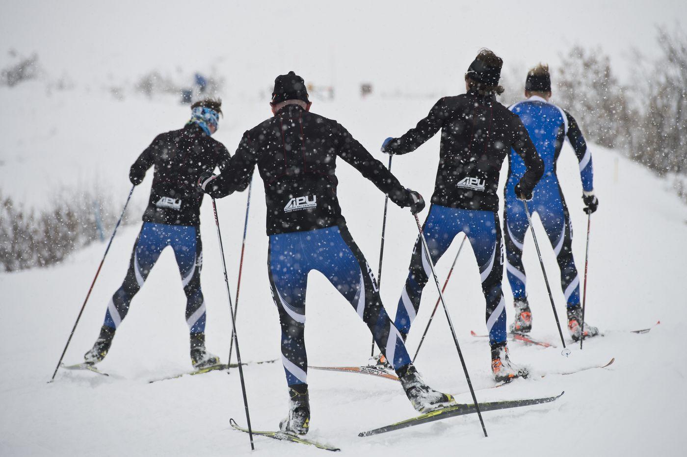 From left are Thomas O'Harra, Forrest Mahlen, Scott Patterson and Erik Bjornsen.(Marc Lester / Alaska Dispatch News)