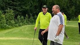 Hall of Fame golfer Hale Irwin sets Alaska golfers up for success by hitting tee shots at a charity tournament
