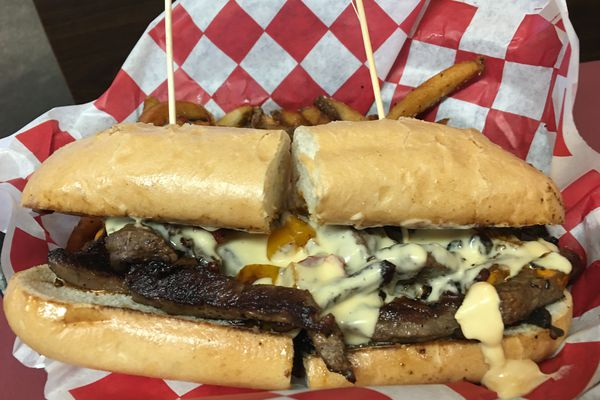 Philly cheesesteak at Alleyway Grille (Photo by Mara Severin)
