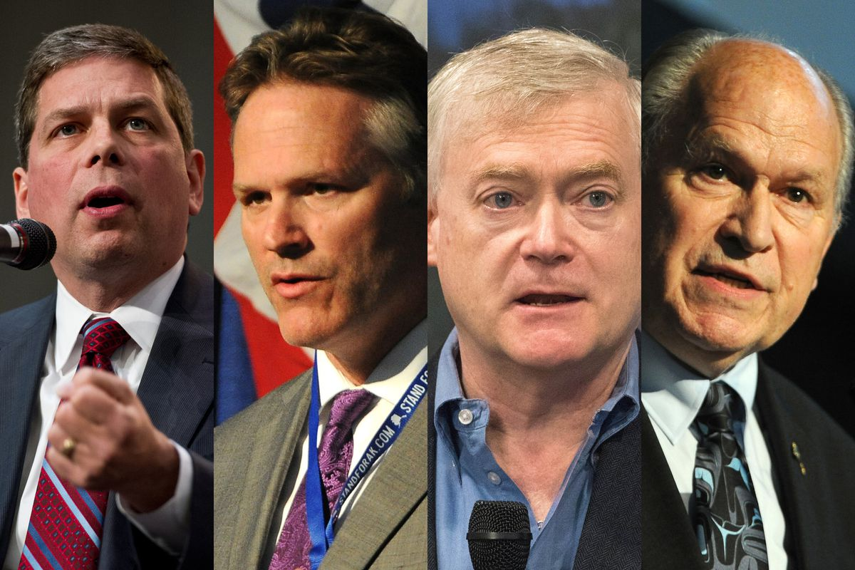 2018 candidates for governor include, from left, Mark Begich, Mike Dunleavy, Mead Treadwell and incumbent Bill Walker.
