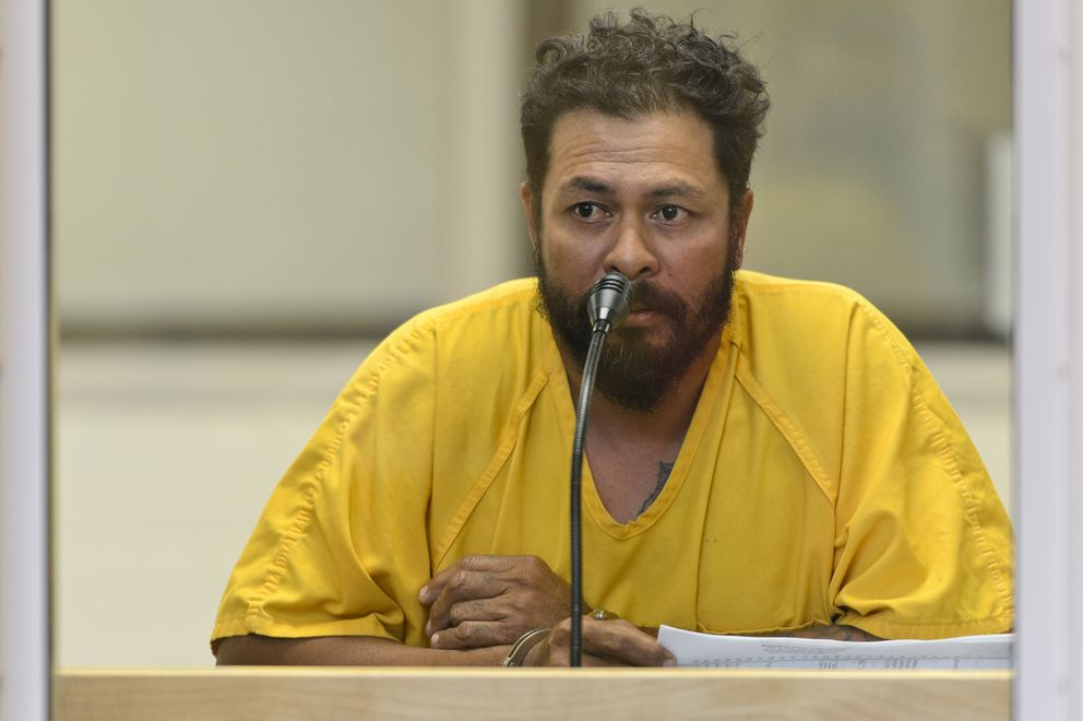 Mikaele Palelei, 43, was arraigned at the Anchorage Jail on charges of failure to render aid after police said a pickup he was driving struck and killed a woman in front of the Brother Francis Shelter late Thursday. (Marc Lester / ADN)