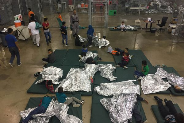 Children inside a U.S. Customs and Border Protection detention facility at the Rio Grande Valley Centralized Processing Center in Texas. CBP/via REUTERS