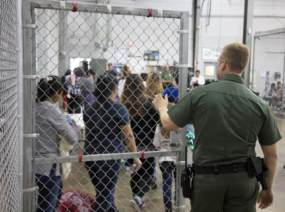 A view of inside U.S. Customs and Border Protection detention facility shows detainees in Rio Grande City, Texas. Courtesy CBP/Handout via REUTERS