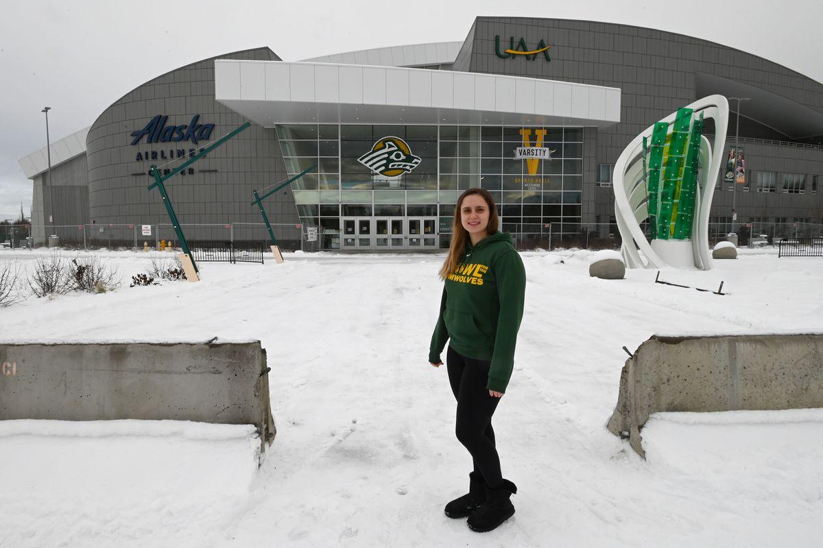 UAA interim gymnastics coach Marie-Sophie Boggasch at the Alaska Airlines Center. (Bill Roth / ADN)