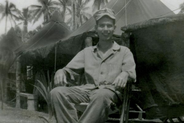 In an handout photo, Pfc. Herman Mulligan, who died on Okinawa during World War II, and in the years after the war, he was reclassified as