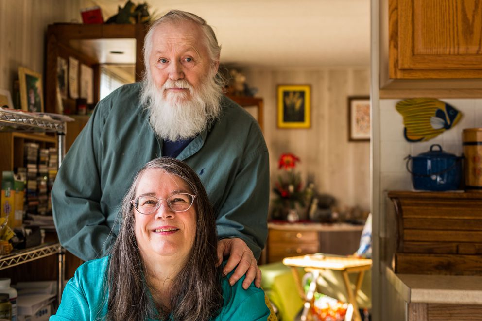 Faith Myers and Dorrance Collins, photographed in their East Anchorage home in 2012. (Loren Holmes / ADN)