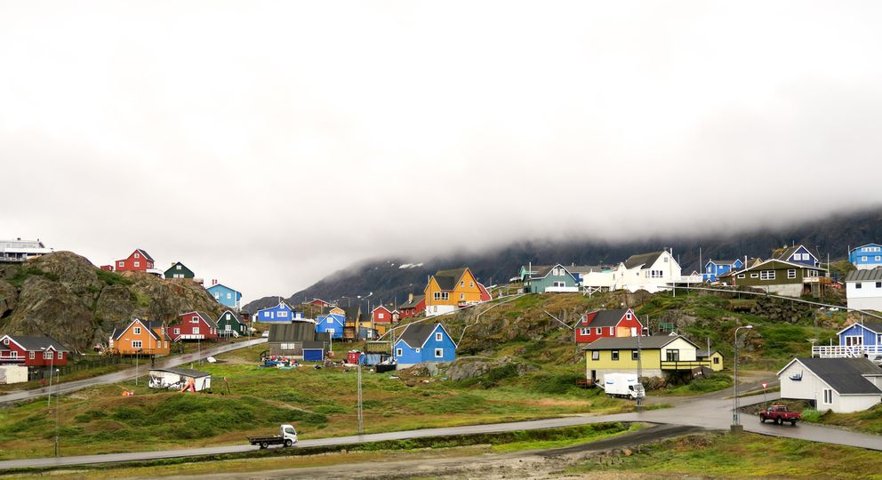 Sisimiut, the second largest city in Greenland, combats gloomy maritime weather with bright colors. (Photo by Dina Mishev for The Washington Post)