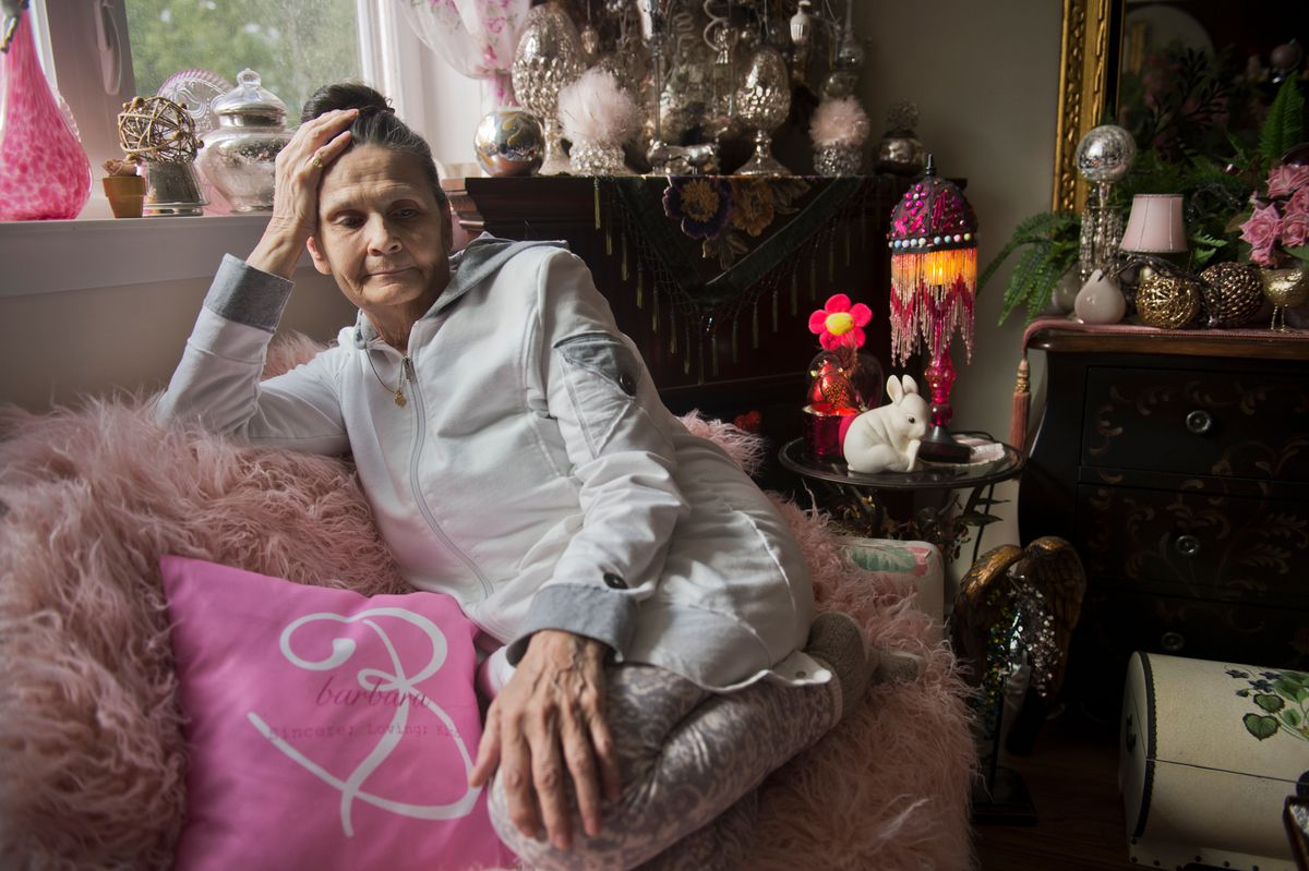 Barbara May, 78 of Anchorage, was notified in mid-July that the Alaska Senior Benefits Payment Program had ended. May said she depended on the program's $175 monthly payments to cover her expenses. (Marc Lester / ADN)