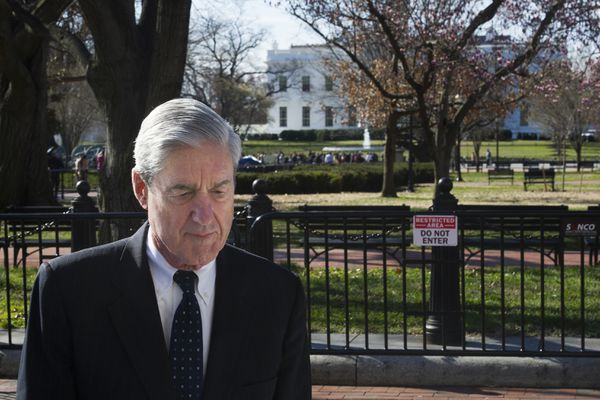 FILE - In this March 24, 2019, file photo, special counsel Robert Mueller walks past the White House after attending services at St. John's Episcopal Church, in Washington. For two years, the nation watched and waited as Mueller investigated President Donald Trump and his campaign for potential collusion with Russia and obstruction of justice. The release of Mueller's report last month provided a long-awaited moment of closure for many _ and an utterly unsatisfying finale for plenty of others. (AP Photo/Cliff Owen, File)
