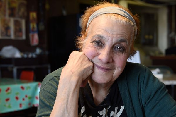 Maro Kargas was the beloved owner and chef at Dimitri's Restaurant in Bethel, Alaska. This portrait was taken in October 2016 during an interview in which Maro reflected back on nearly 40 years of feeding her YK-Delta patrons delicious Greek food. Maro passed away in Cyprus, surrounded by family, on July 5, 2017. (Katie Basile / KYUK Public Media)