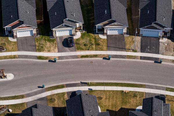 Homes in the Westpark development on Friday, May 15, 2020 in South Anchorage. (Loren Holmes / ADN)