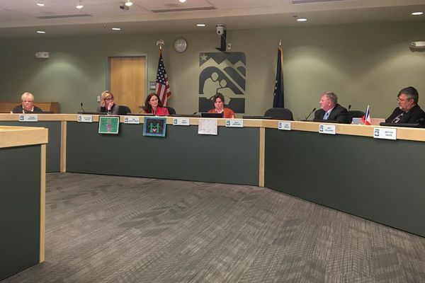 The Anchorage School Board approved a 2018-19 budget Tuesday night that cuts teaching positions and raises class sizes. (Tegan Hanlon / ADN)