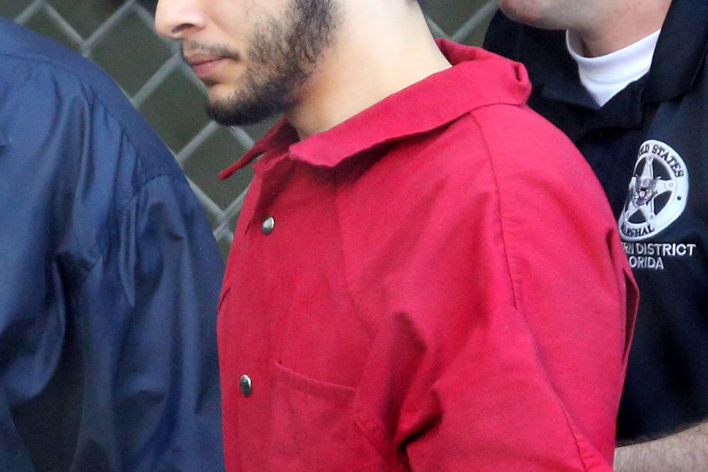 Esteban Santiago is taken from the Broward County main jail as he is transported to the federal courthouse in Fort Lauderdale on Tuesday, Jan. 17, 2017. Santiago is accused of killing five people and wounding six others in the Fort Lauderdale airport shooting and faces federal charges involving murder, firearms and airport violence. (Amy Beth Bennett/South Florida Sun Sentinel/TNS)