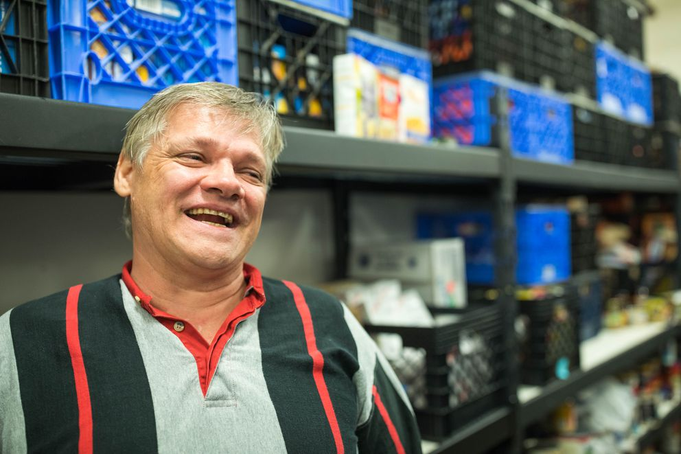 Bean's Cafe volunteer Lee Rubey. (Loren Holmes / ADN)