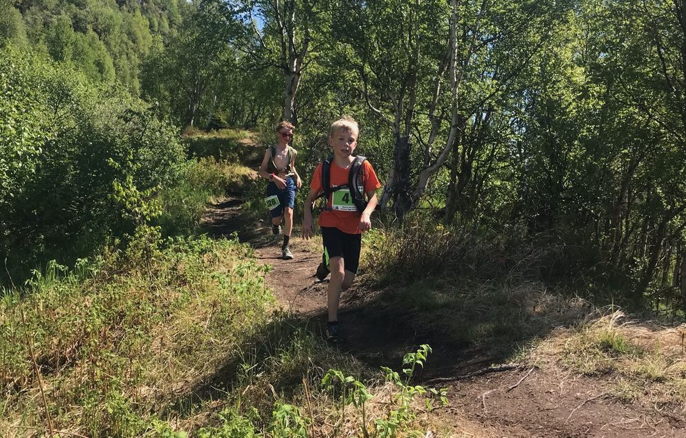 Nine-year-old Isaac Marvin en route to 52nd place. (Photo by Aubrey Spangler)