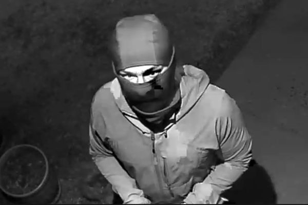 APD detectives are asking the public's help in identifying a person of interest in the investigation regarding the placement of swastika stickers.The subject was seen in the areas of two locations on 5/25/21 between midnight and 4 a.m. (Photo provided by APD)