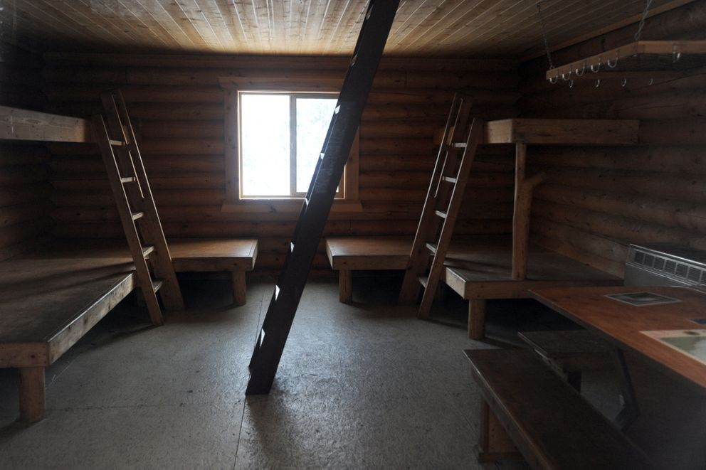 The Bore Tide Cabin, pictured Wednesday, has room for 12 at Bird Creek Campground. (Erik Hill / Alaska Dispatch News)