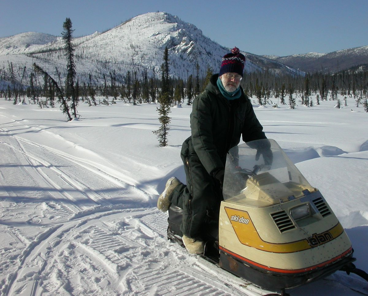 Will Harrison in the White Mountains National Recreation Area in 2005. (Photo by Ned Rozell)