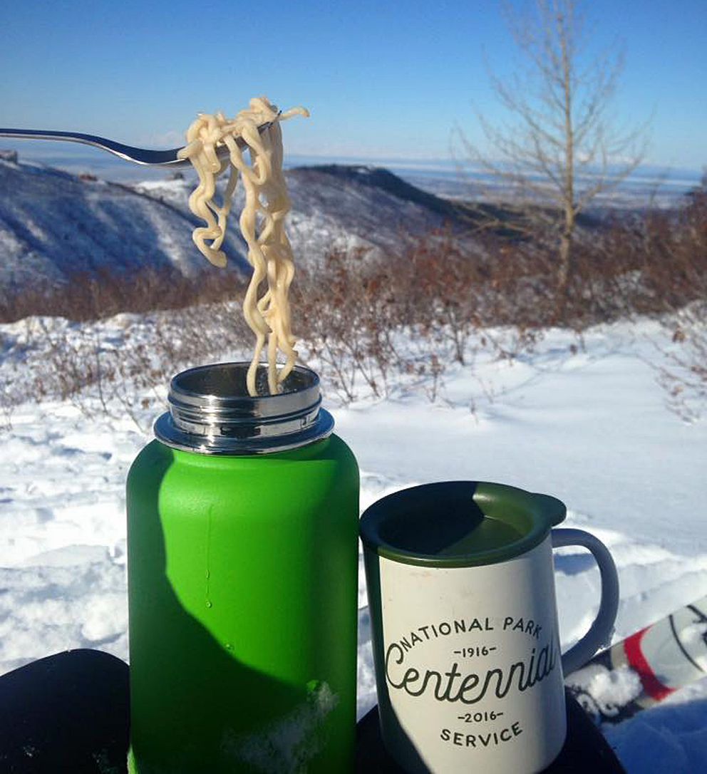 The first time I ate ramen out of an insulated water bottle, I wondered why I hadn't done it sooner. (Vicky Ho / Alaska Dispatch News)
