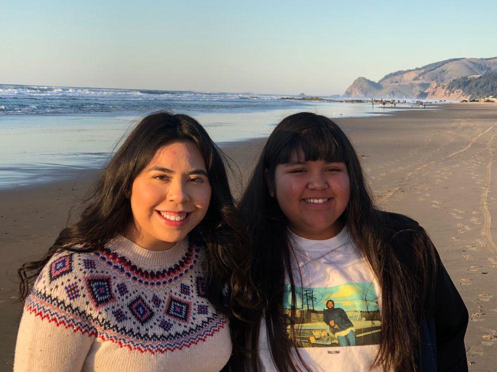 Cielo Castor, left, and sister Maritza Avalos in 2019. (Cielo Castor)