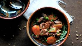 Cozy up to winter weather with this hearty beef and barley stew