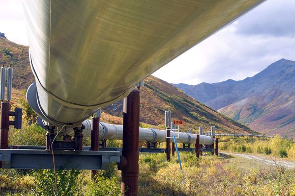 OPINION: Alaska's tough times are the result of low oil prices and low production - not the new tax regime, which is working. Pictured: the trans-Alaska oil pipeline near Atigun Pass.