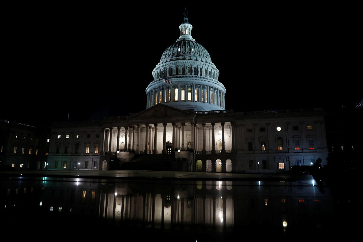The United States Capitol is seen prior to an all-night round of health care votes on Capitol Hill in Washington, D.C., July 27. (REUTERS / Aaron P. Bernstein)