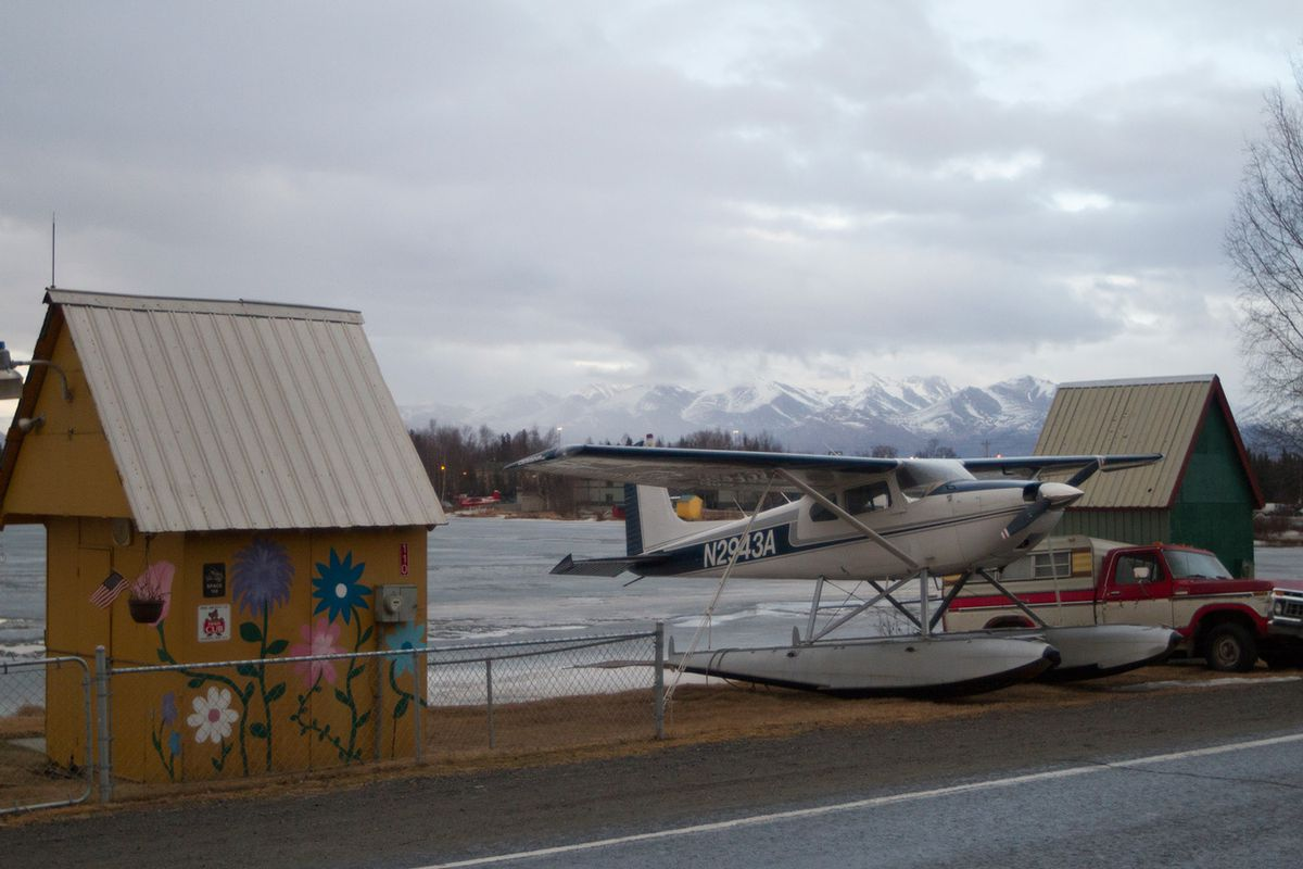 Private plane at Lake Hood, Anchorage.