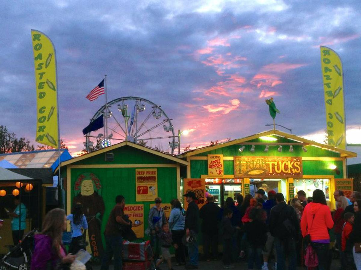 Sunset at the Alaska State Fair in 2013. (ADN archive)