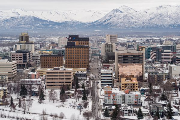 Downtown Anchorage on Wednesday, March 25, 2020. Mayor Ethan Berkowitz issued a