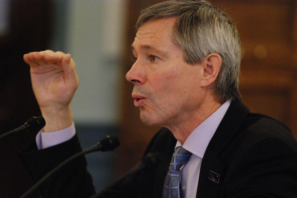 FILE, 2013: John Binkley, president of the Alaska cruise industry trade group, testifies before the Senate Finance Committee. (ADN archives)