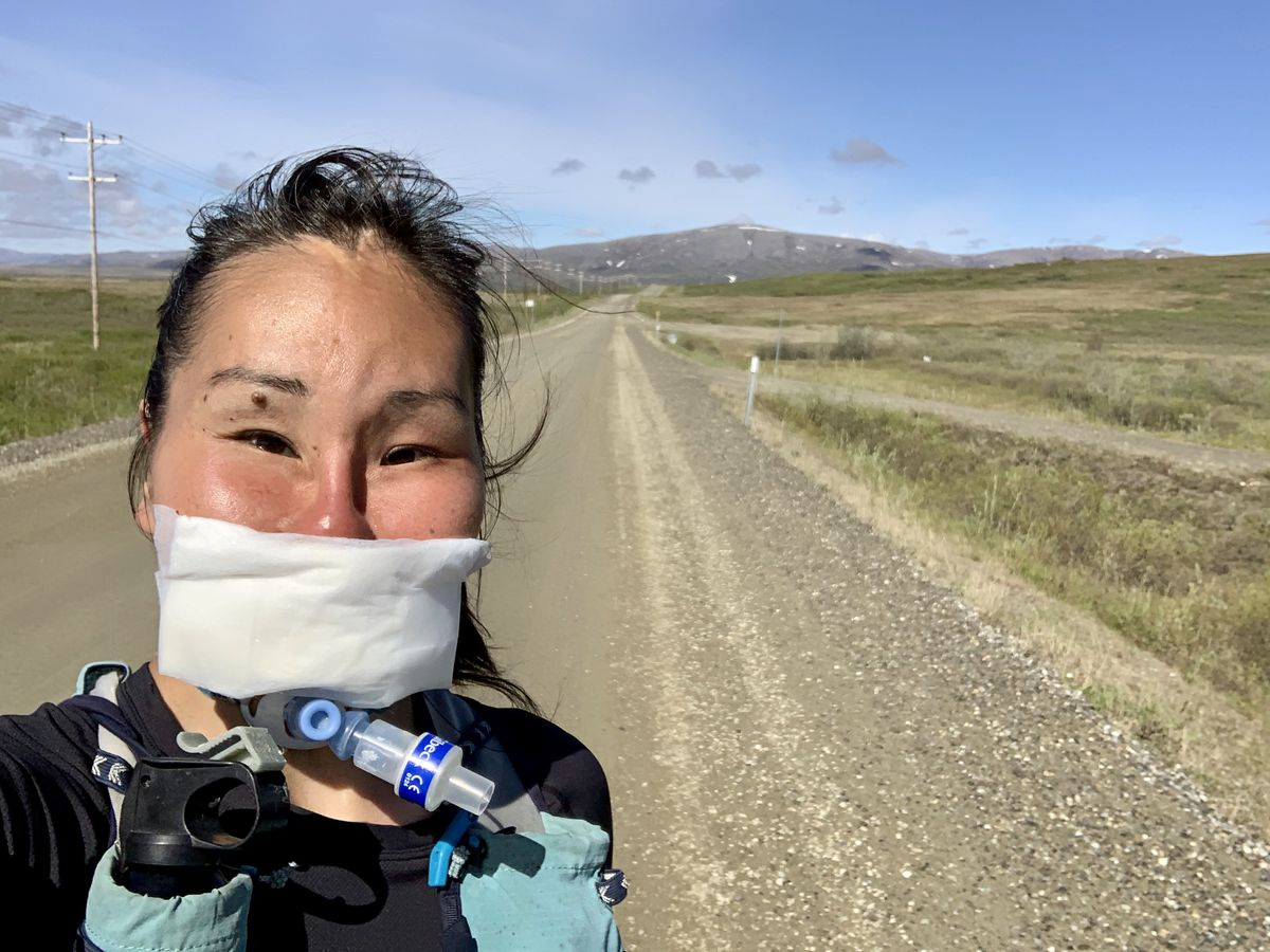 Carol Seppilu of Nome is planning a 71-mile run on the Teller Road to raise suicide awareness. (Photo by Carol Seppilu)
