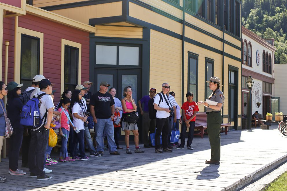 With 2016 visitation of 912,351 people, the park is telling new, diverse stories including those of buffalo soldiers and women in Skagway. Photo taken in 2015. (Shannon Millard / NPS)