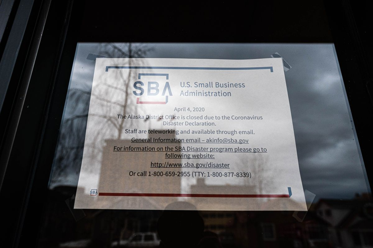 The Small Business Administration office in downtown Anchorage on Wednesday, April 15, 2020. (Loren Holmes / ADN)