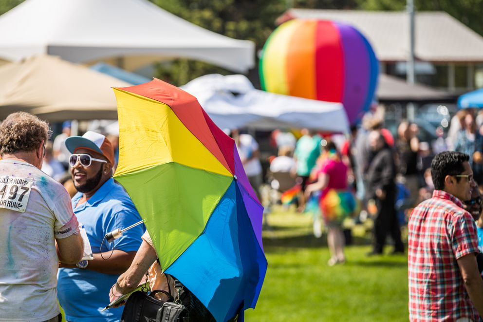 Anchorage Pridefest, 2013. (Loren Holmes / Alaska Dispatch News)