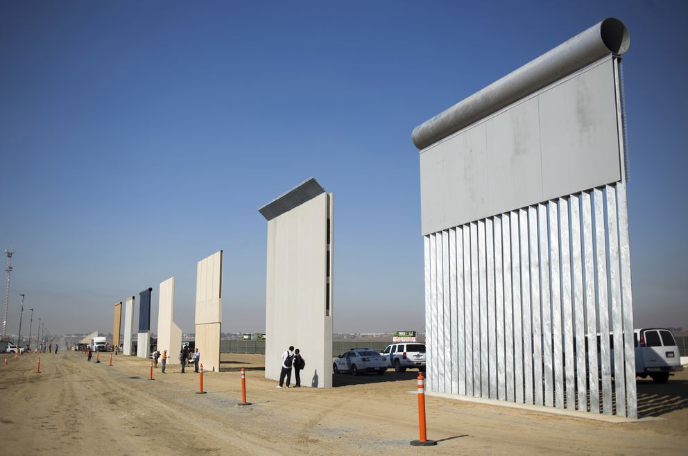 Border wall prototypes in San Diego, Oct. 26, 2017. The disorganization that marked President Donald Trump's earliest actions on immigration have given way to a more disciplined approach that has yielded firmer results. (Jenna Schoenefeld/The New York Times file)