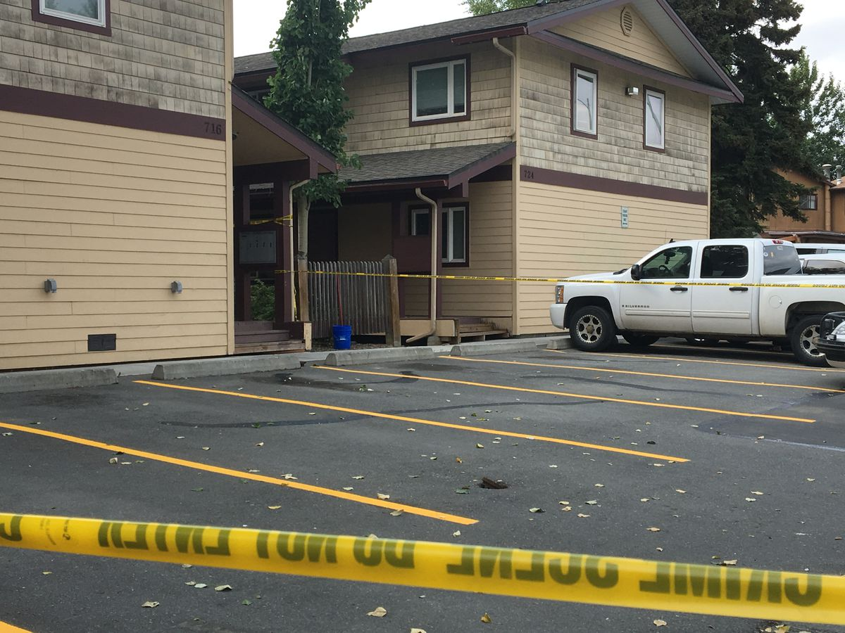 Two people were found dead Friday, July 12, 2019 inside an apartment in Price Street in Anchorage's Mountain View neighborhood, police said. (Madeline McGee / ADN.)