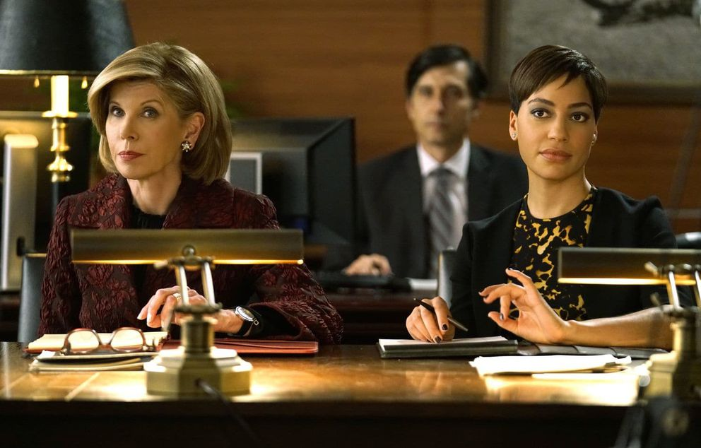 "Christine Baranski as Diane Lockhart and Cush Jumbo as Lucca Quinn in ""The Good Fight."" (Patrick Harbron, CBS)"