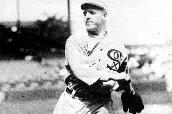Chicago White Sox knuckleball pitcher Ed Cicotte, who was implicated in the