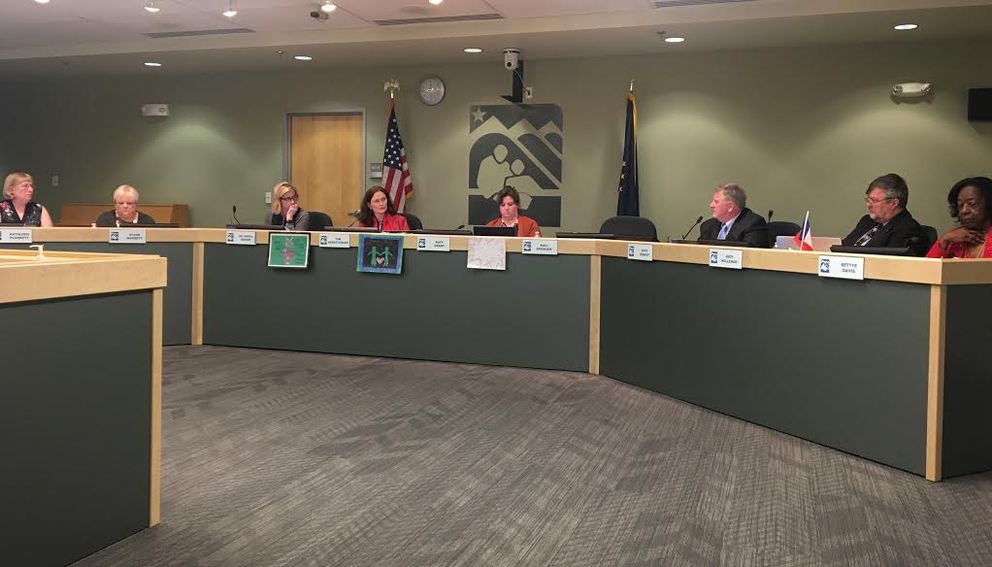The Anchorage School Board approved the 2018-19 budget Tuesday night. (Tegan Hanlon / ADN)